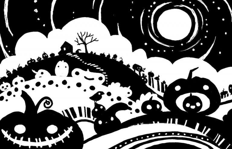Croquis numérique : lune irradiant dans le ciel